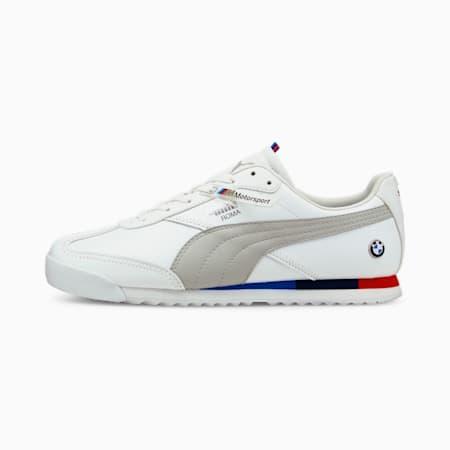 Zapatos deportivos de automovilismo BMW M Motorsport Roma Via, Puma White-Gray Violet, pequeño