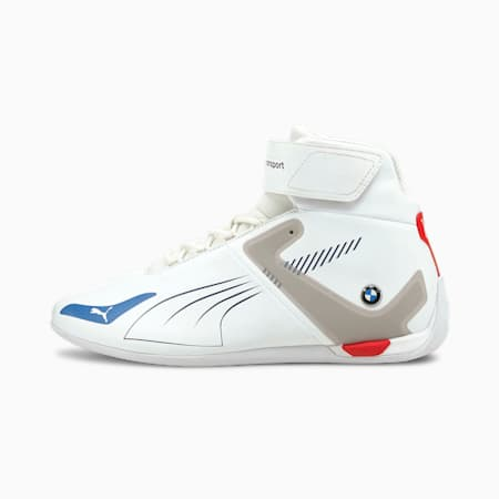BMW M Motorsport A3ROCAT Unisex Shoes, Puma White-Strong Blue-Fiery Red, small-IND