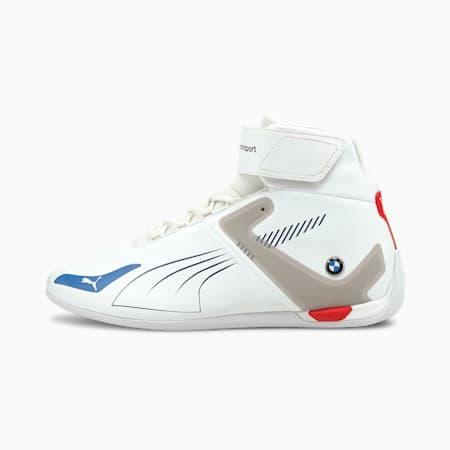 Zapatos deportivos de automovilismo de caña media BMW M Motorsport A3ROCAT, Puma White-Strong Blue-Fiery Red, pequeño