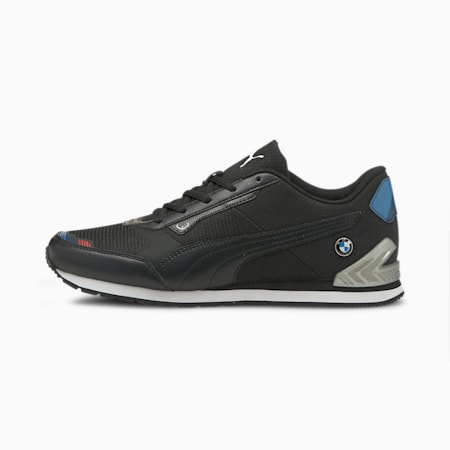 BMW M Motorsport Track Racer Unisex Shoes, Puma Black-Puma Silver, small-IND
