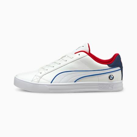 Zapatos deportivos de automovilismoBMW M Motorsport Smash Vulcanised V3, White-Estate Blue-Fiery Red, pequeño