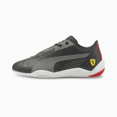 Zapatos de automovilismo Scuderia Ferrari R-Cat Machina JR, Puma Black-Smoked Pearl-Puma White, pequeño