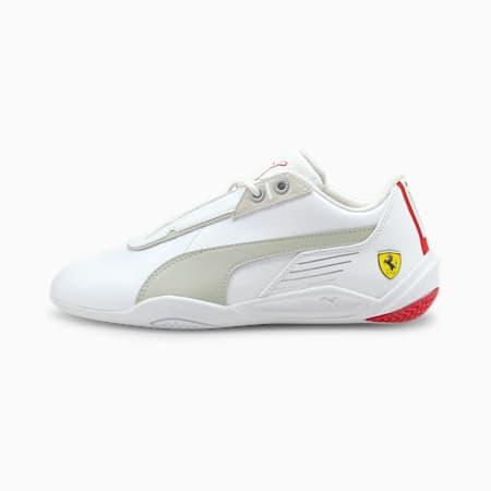 Zapatos de automovilismo Scuderia Ferrari R-Cat Machina JR, Puma White-Gray Violet-Rosso Corsa, pequeño