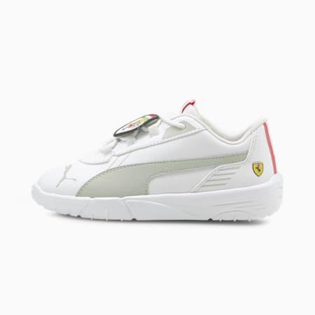 Scuderia Ferrari R-Cat Machina Kids' Motorsport Shoes, Puma White-Puma White, small-GBR