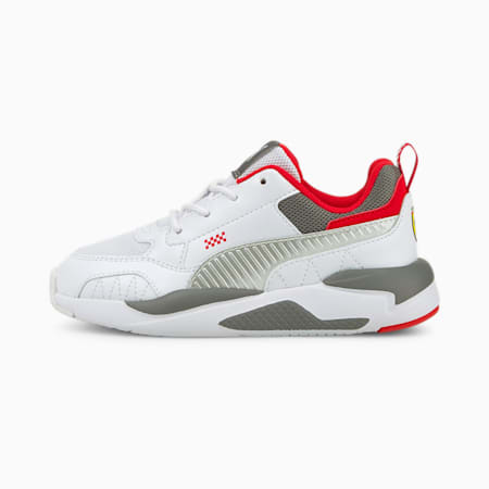 Ferrari X-Ray Kid's Shoes, Puma White-Smoked Pearl, small-IND