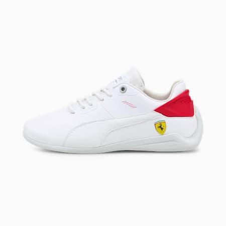 Zapatos deportivos Scuderia Ferrari Drift Cat Delta para jóvenes, Puma White-Rosso Corsa, pequeño