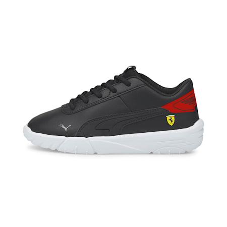 Zapatos de automovilismo Scuderia Ferrari Drift Cat Delta para niño pequeño, Puma Black-Rosso Corsa, pequeño