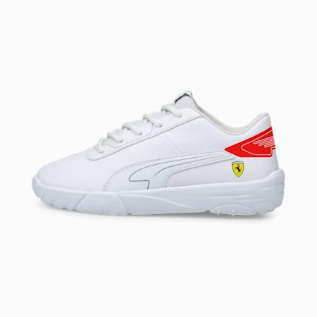 Zapatos de automovilismo Scuderia Ferrari Drift Cat Delta para niño pequeño, Puma White-Rosso Corsa, pequeño