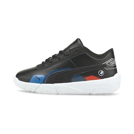 Zapatos de automovilismo BMW M Motorsport Drift Cat Delta para niño pequeño, Puma Black-Puma White, pequeño