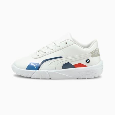 BMW M Motorsport Drift Cat Delta Kids' Motorsport Shoes, Puma White-Puma White, small