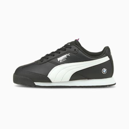 Zapatos de automovilismo BMW M Motorsport Roma Via para niño pequeño, Puma Black-Puma White, pequeño