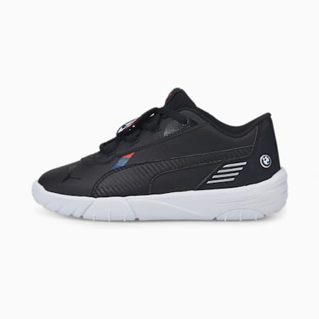 BMW M Motorsport R-Cat Machina Kids' Motorsport Shoes, Puma Black-Puma White, small-GBR