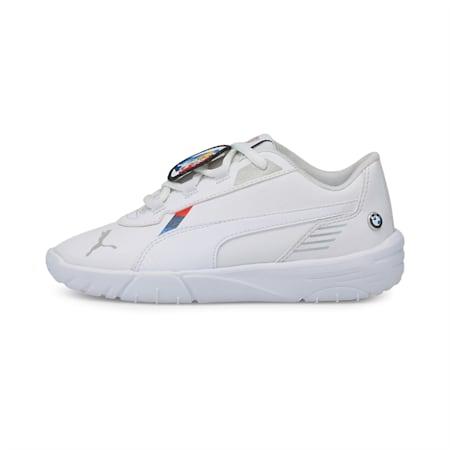 BMW M Motorsport R-Cat Machina Kids' Motorsport Shoes, Puma White-Puma White, small-GBR