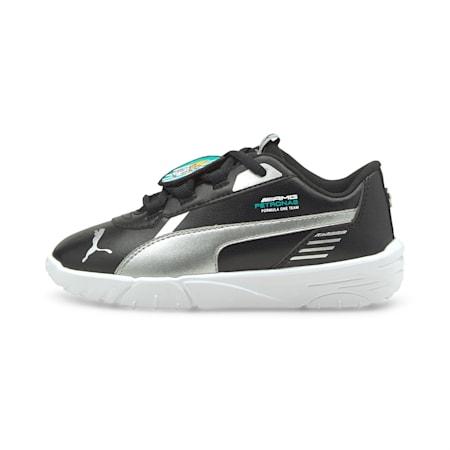 Mercedes F1 R-Cat Machina Kid's Unisex Shoes, Puma Black-Puma White, small-IND