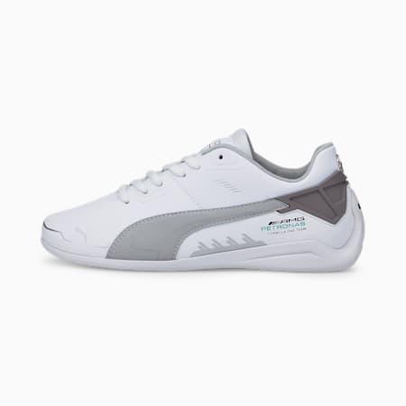 Zapatos de automovilismo Mercedes F1 Drift Cat Delta JR, Puma White-Mercedes Team Silver, pequeño