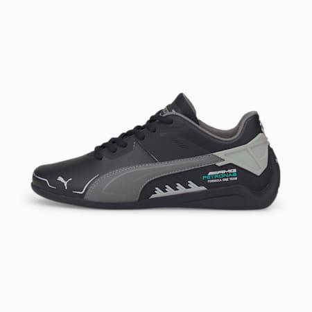 Zapatos de automovilismo Mercedes F1 Drift Cat Delta JR, Puma Black-Mercedes Team Silver, pequeño