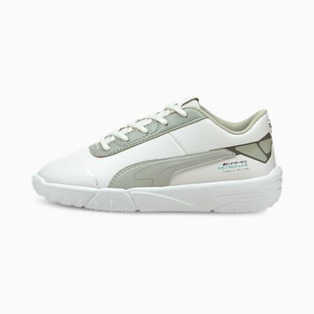 Zapatos de automovilismo Mercedes F1 Drift Cat Delta V para niño pequeño, P White-Mercedes Team Silver, pequeño