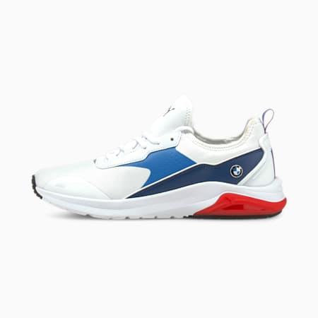 Zapatos de automovilismo BMW M Motorsport Electron E Pro, Puma White-Strong Blue-Estate Blue, pequeño
