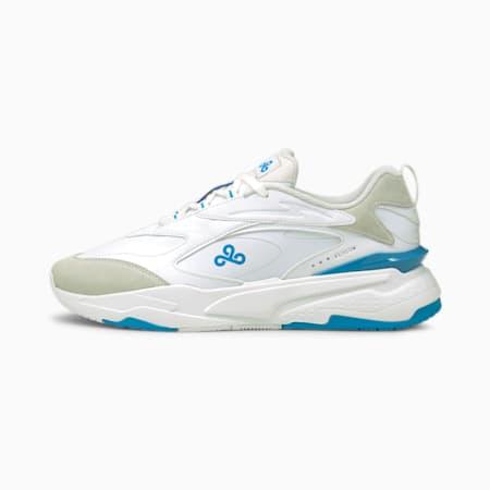 PUMA x CLOUD9 RS-Fast Esports Shoes, Puma White-Bleu Azur, small