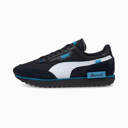 PUMA x CLOUD9 Future Rider Esports Shoes, Black-White-Bleu Azur, small