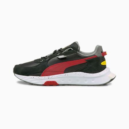 Ferrari Wild Rider Unisex Shoes, Puma Black-Rosso Corsa-Smoked Pearl, small-IND