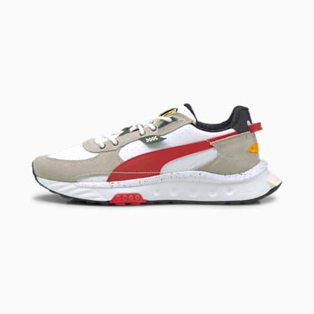 Ferrari Wild Rider Unisex Shoes, Puma White-Rosso Corsa-Gray Violet, small-IND