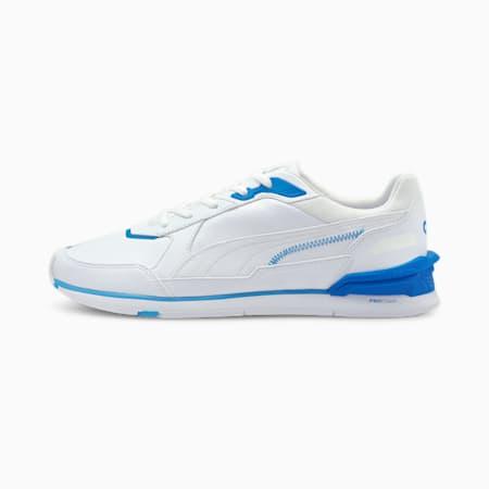 Low Racer Cloud9 Esports schoenen, Puma White-Bleu Azur, small