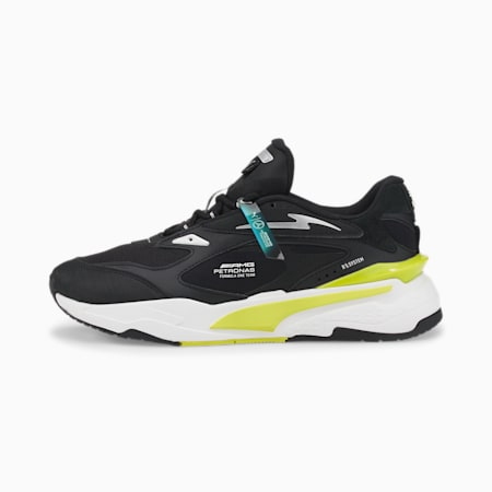 Mercedes F1 RS Fast Motorsport Trainers, Puma Black-Nrgy Yellow, small