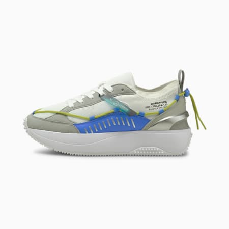 Mercedes F1 Cruise Rider Laces Women's Sneakers, Puma White-Bluemazing, small-IND