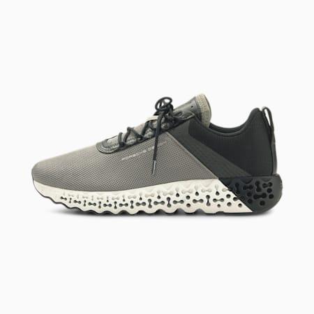 Zapatos de automovilismo Porsche Design Xetic RFLCT para hombre, Steeple Gray-Jet Black, pequeño