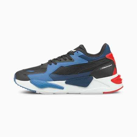 BMW M Motorsport RS-Z Unisex Shoes, Puma Black-Strong Blue-Fiery Red, small-IND