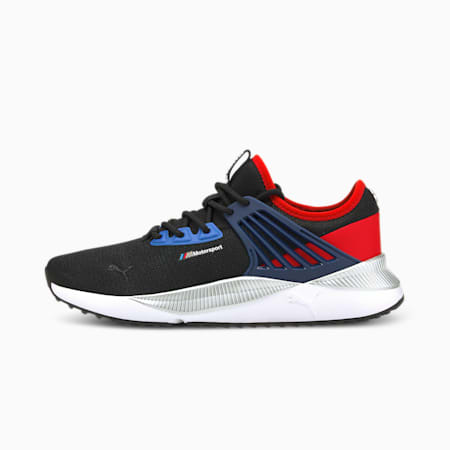 BMW M Motorsport Pacer Future Unisex Shoes, Puma Black-Estate Blue-Fiery Red, small-IND