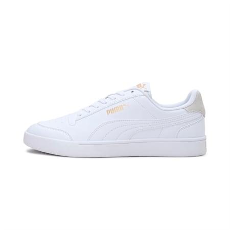 PUMA Shuffle SoftFoam+ Sneakers, White-White-Puma Team Gold, small-IND