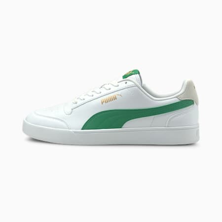 PUMA Shuffle Trainers, White-Green-Ivory Glow-Gold, small-GBR