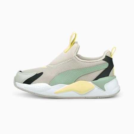 Zapatos deportivos sin cordones RS-X³ para niño pequeño, Gray Violet-Jadeite, pequeño