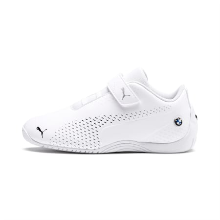 BMW M Motorsport Drift Cat 5 Ultra II Kids' Shoes, Puma White-Puma Black, small-IND