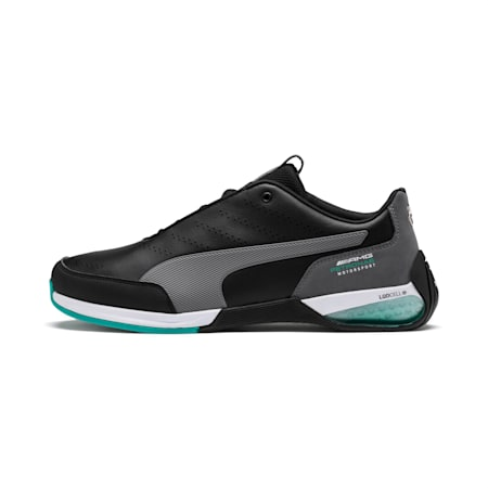 Mercedes AMG Petronas Motorsport Kart Cat X Shoes, Puma Black-Smoked Pearl, small-IND
