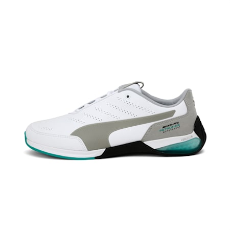 Mercedes AMG Petronas Motorsport Kart Cat X Shoes, Puma White-Mercedes Silver, small-IND