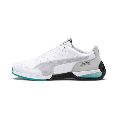 Mercedes AMG Petronas Kart Cat X Men's Training Shoes, Puma White-Mercedes Silver, small