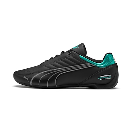 Mercedes AMG Petronas Motorsport Future Kart Cat Trainers, Puma Black-Smoked Pearl, small