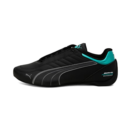 Mercedes AMG Petronas Motorsport Future Kart Cat Shoes, Puma Black-Smoked Pearl, small-IND