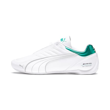 Mercedes AMG Petronas Motorsport Future Kart Cat Shoes, Puma White-Mercedes Silver, small-IND