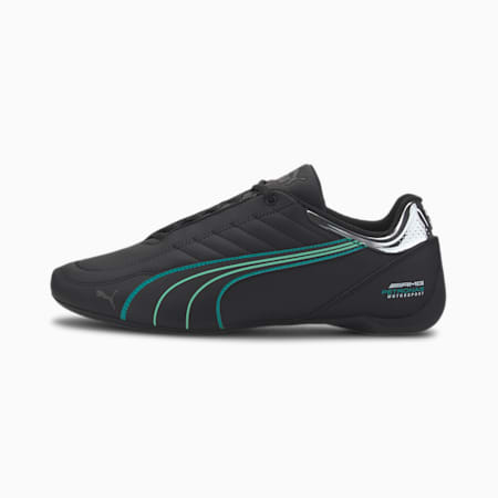 Mercedes AMG Petronas Motorsport Future Kart Cat Shoes, Puma Black-Spectra Green, small-IND