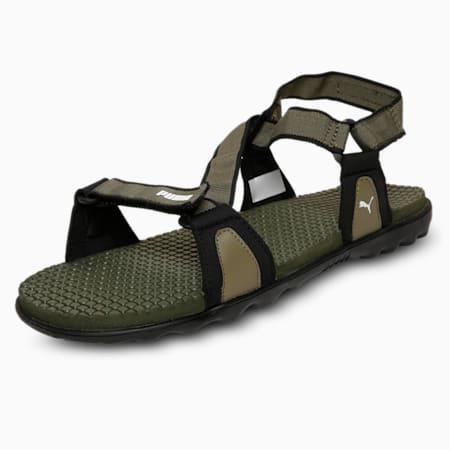 Jordy IDP Men's sandals, Burnt Olive-Puma Black-White, small-IND