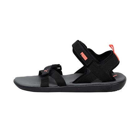Pebble II IDP Sandals, Dark Shadow-Red Blast-Black, small-IND