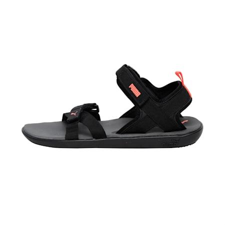 Pebble II Men's Sandals, Dark Shadow-Red Blast-Puma Black, small-IND