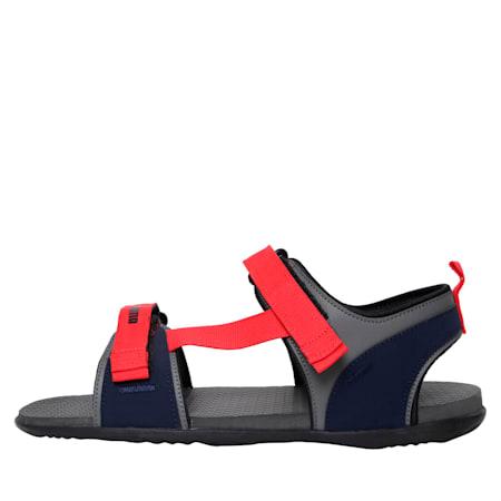 Hexa IDP Men's sandals, Dark Shadow-High Risk Red, small-IND