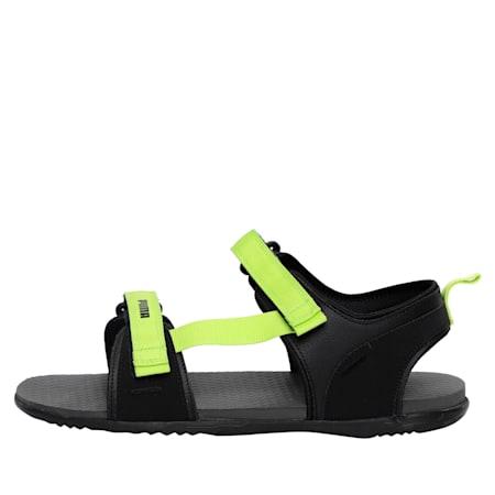 Hexa IDP Men's Sandals, Dark Shadow-Limepunch, small-IND