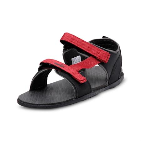 Hexa IDP Men's Sandals, DarkShadow-PumaBlack-Rhubarb, small-IND