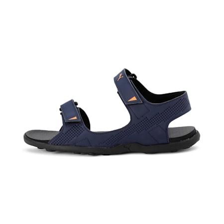 Shire IDP Men's Sandals, Peacoat-Black-OrangePopsicle, small-IND